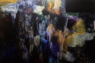 John Bartley, Visitation (2020), acrylic on canvas, 125cm x 175cm, $10,550.