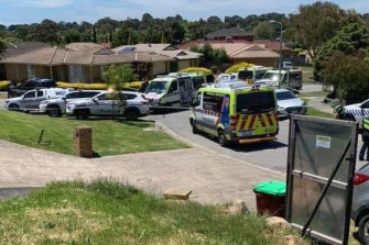 Four people were seriously injured inside a Narre Warren home on Monday afternoon.