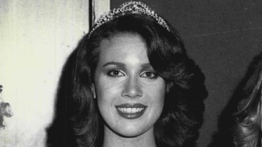 Ms Cobby was a beauty pageant winner. She is pictured after winning Miss Western Suburbs in 1979.
