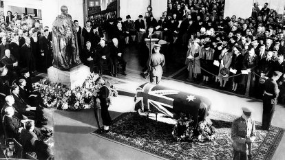 From the Archives, 1945: Australia's war-time PM, John Curtin, laid to rest