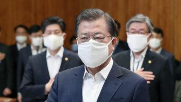 South Korea President Moon Jae-in.