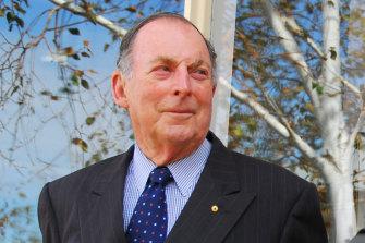 Geoff Handbury pictured around 2012, has died at age 94.