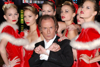 Christmas is all around: Bill Nighy and the Love Actually singers at the movie's premiere.