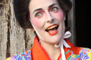 Comedian Kate Hanley Corley as her character Aisha the Aussie Geisha.