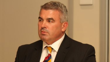 Controversial: Andrew Gee, pictured back in 2010, was previously Brisbane's football operations manager.