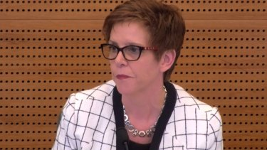 Deputy APRA chair Helen Rowell at the Royal Commission.