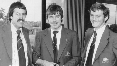 Spinning back in time: Bruce Yardley (left), Jim Higgs and Peter Sleep.