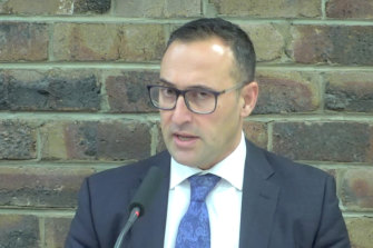 Paul Mifsud giving evidence at the inquiry on Monday