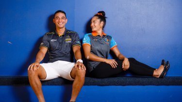 ACT Brumbies flyhalf Wharenui Hawera and partner Ngawai Eyles will be playing at Canberra Stadium together on Saturday night.