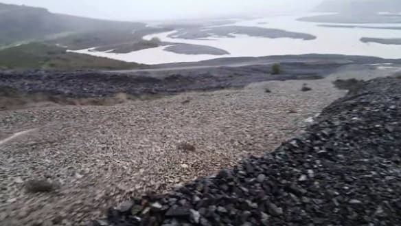 NZ's Terrible Gully turned to river of rock by ex-Cyclone Gita