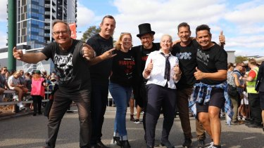 Mark McGowan had the honour of officially kicking the event off atop the Canning Highway footbridge.