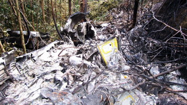 Wreckage of the Fairchild Metroliner Commuter plane, which came down near Lockhart River in 2005.
