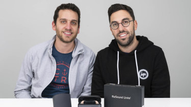 Hearing Choices founders Akiva Szental (L) and Noam Korbl.