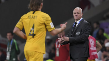 Proud: Graham Arnold says a quarter-final appearance for an inexperienced Socceroos side was a good result.