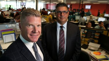 Acquire Learning Group managing director John Wall (left) and advisory board member Andrew Demetriou.