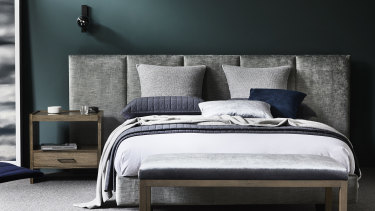Georgie Leckey, director of Heatherly Design Bedheads: look for different textures when dressing your bed.