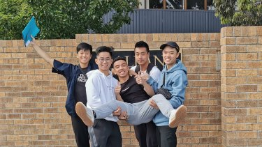 St Albans Secondary College students (left to right): Bao Tran, Jason Nguyen, Aaron Tran-Hoang, James Mangali, Minh Lai.