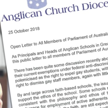 The letter signed by heads of Anglican schools.