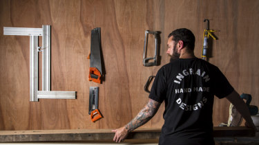Ben Purchase is doing whatever he can to encourage customers to pay on time for his custom-made recycled timber furniture.