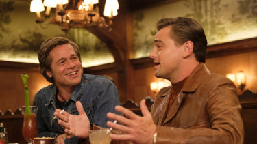 Brad Pitt, left, and Leonardo DiCaprio in Quentin Tarantino's Once Upon a Time in Hollywood.