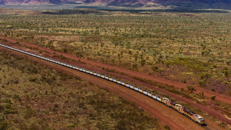 Rio Tinto\'s automated Pilbara iron ore trains have delivered their first load.