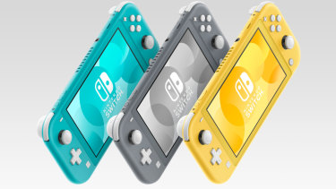 The Switch Lite comes in turquoise, grey or yellow.