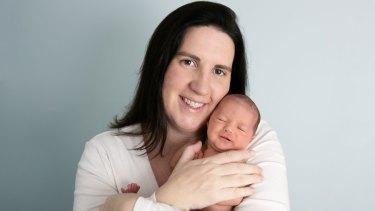 Giulia Jones and her very chilled little girl, Liliana Isabella Giovanna Jones.