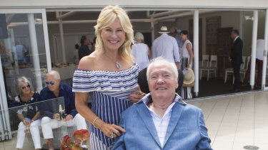 Kerri-Anne Kennerley and her husband John, who is confined to a wheelchair.
