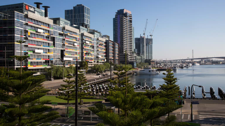 Melbourne's Docklands where vacancy is tight.