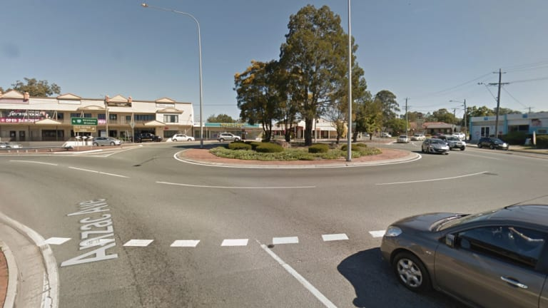 The Petrie roundabout connecting Gympie Road, Dayboro Road and Anzac Avenue.
