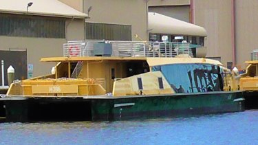 Sydney's new ferries, which won't be able to accommodate passengers on the upper deck when they pass under two bridges.