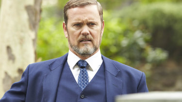 Craig McLachlan in character in The Doctor Blake Mysteries.
