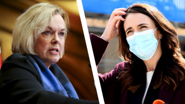 New Zealand Opposition Leader Judith Collins and Prime Minister Jacinda Ardern.