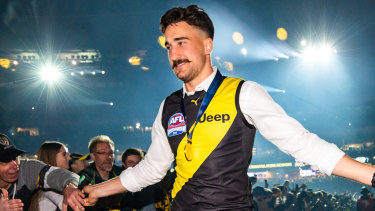 Ivan Soldo was one of the Tigers who didn't win the premiership in 2017, but did this year.