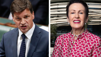 Angus Taylor apologises for attack on Clover Moore