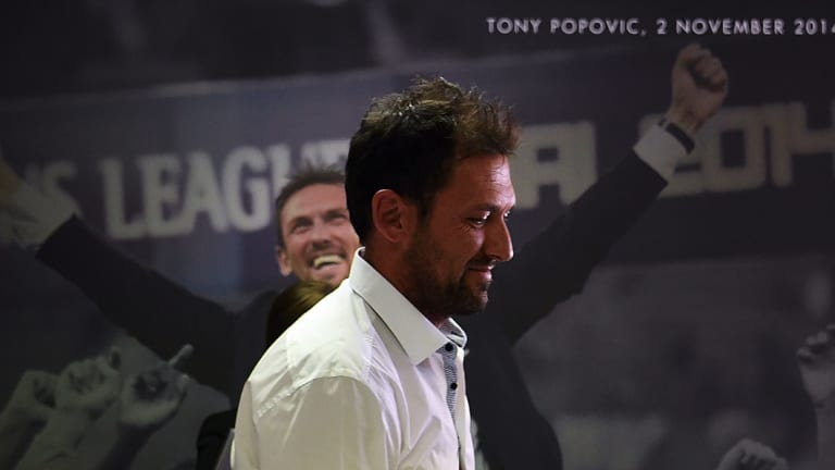 Walking away: Tony Popovic felt uneasy leaving a club fashioned in his image.
