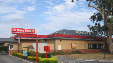 Hungry Jack's Mill Park, in Melbourne's north, where Rex Haysom was killed in a bin-emptying accident in March 2013.