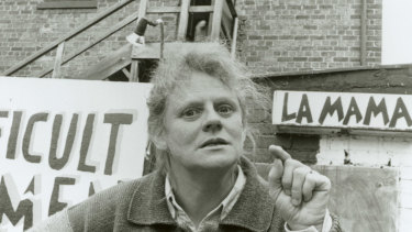 Jones promoting the production Difficult Women in 1992.