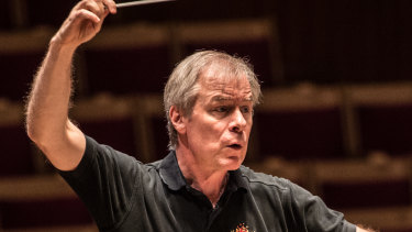 Conductor David Robertson in rehearsal with the SSO.
