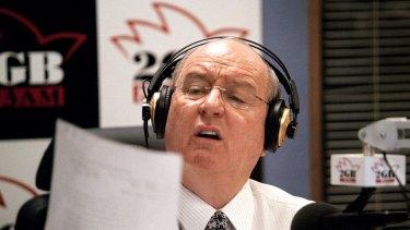 Macquarie Media's 2GB host Alan Jones.