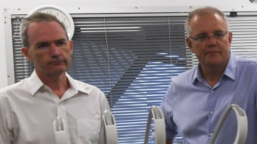 Scott Morrison and Immigration Minister David Coleman tour the medical facilities on Christmas Island.