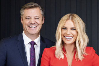 Sonia Kruger and Seven managing director James Warburton.