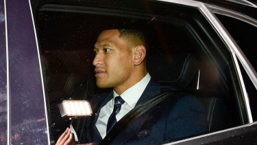 Israel Folau faced a Rugby Australia code of conduct hearing on May 5 over his Instagram post.