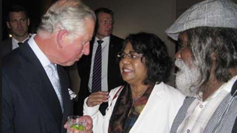 Associate Professor Henrietta Marrie meets Prince Charles.