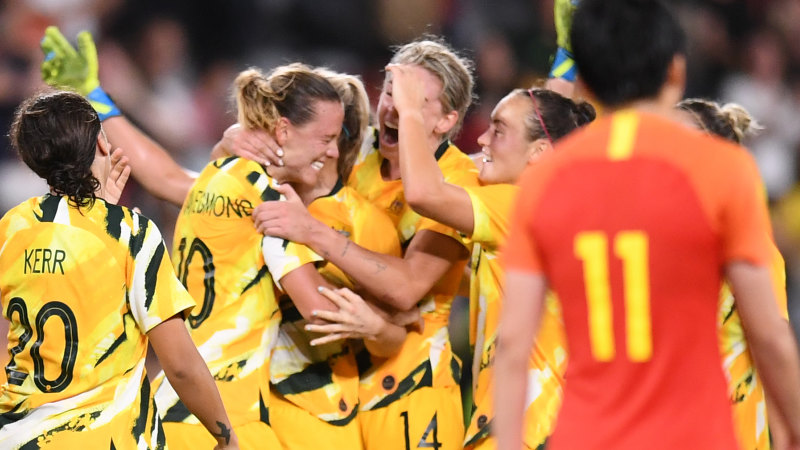 Injury-time van Egmond strike saves Matildas from hard road to Tokyo 2020