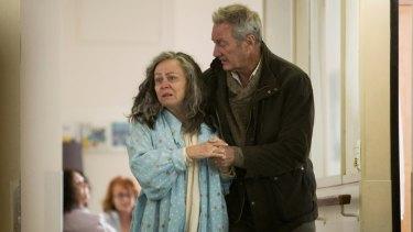 Jackie Weaver and Bryan Brown in Stan's Bloom.