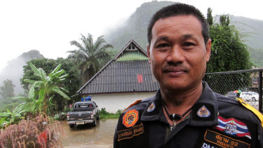 Tawatchai, the leader of the volunteer group.