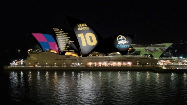 Racing NSW's proposed projection for the Opera House.