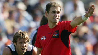 Umpire Matthew Head officiates in 2005.