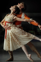 Vicki Attard and David McAllister star in Romeo and Juliet.